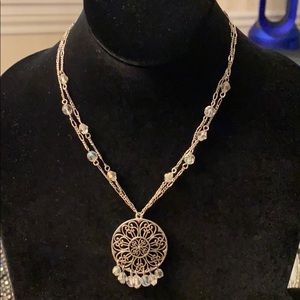 Victorian Double Style Chain Baked Beads Necklace